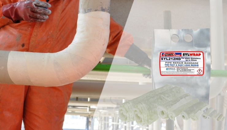 SylWrap Pipe Repair Bandages are water-activated and set rock hard in minutes, helping to strengthen and repair damaged and leaking pipework