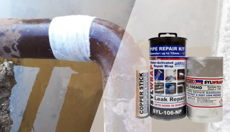 SylWrap Standard Pipe Repair can permanently seal leaking pipes in under 30 minutes with no training required