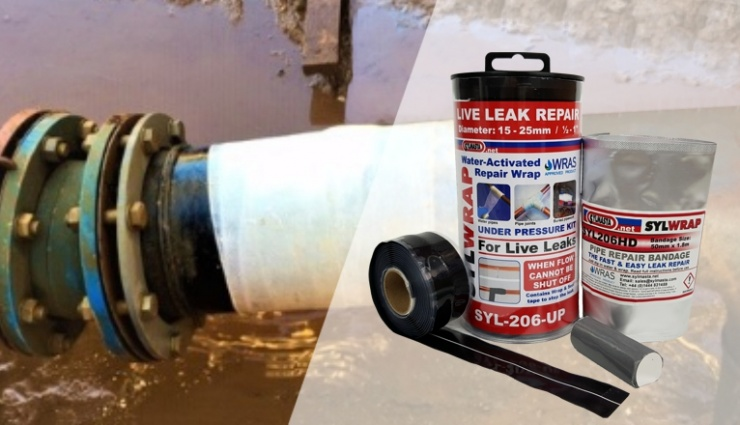 The SylWrap Universal Pipe Repair Kit carries out live leak pipe repair, allowing for repairs to be carried out even water flow cannot be stopped