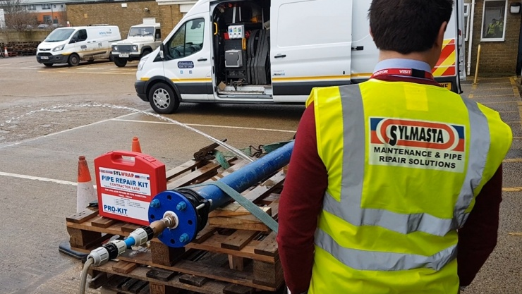 Sylmasta can carry out onsite Pipe Repair demonstrations of their SylWrap technology
