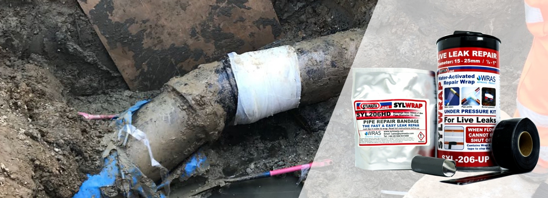 A SylWrap Universal Pipe Repair Kit enables a user to fix a live leak on a pipe within 30 minutes without any formal training