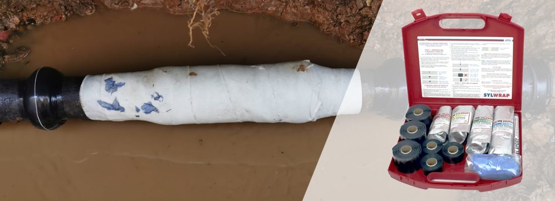 The SylWrap Pipe Repair Contractor Case contains enough products for water companies and facilities managers to carry out up to six emergency live leak pipe repairs