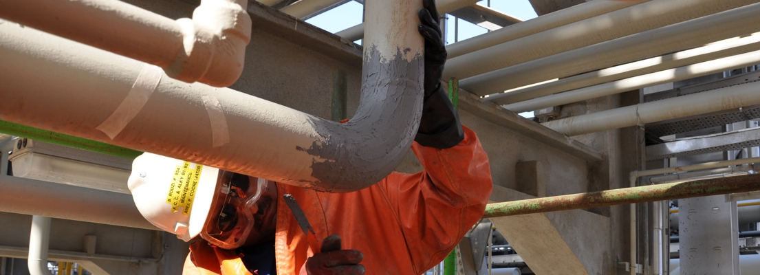 A surface coating can be used to protect a pipe from corrosion, chemical attack and other external factors