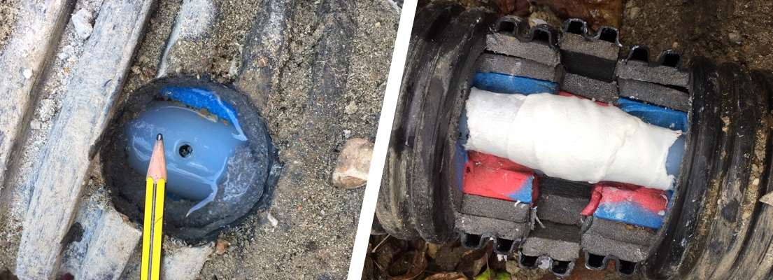 SylWrap Pipe Repair solutions fix an underground heating pipe and insulation lagging on a farm