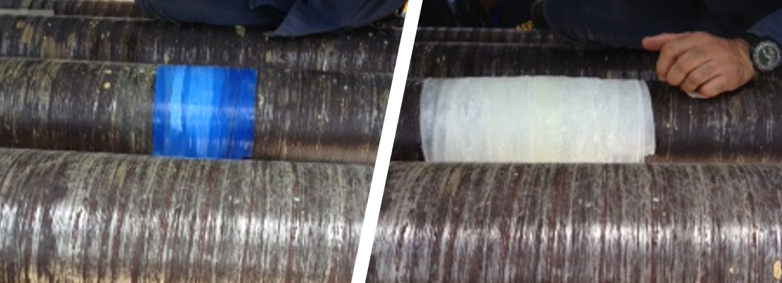 A contaminated water pipe in a Power Station in Puerto Rico is repaired using a SylWrap Pipe Repair Kit