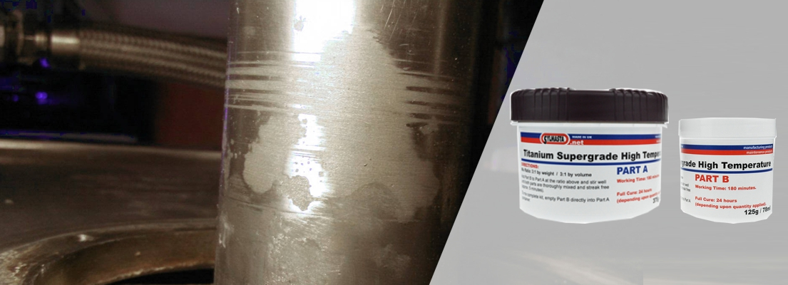 Titanium Supergrade HT is an epoxy putty specifically formulated for high temperature pipe repair applications