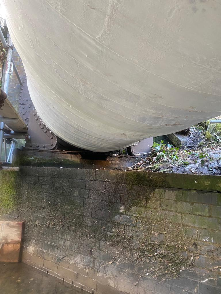 SylWrap HD used for the repair and reinforcement of a pipe bridge leaking sewage water in Lancashire