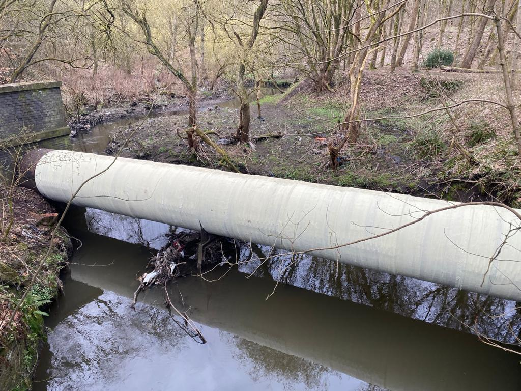 A pipe bridge leaking from corroded joints is repaired and reinforced using SylWrap HD Pipe Repair Bandage