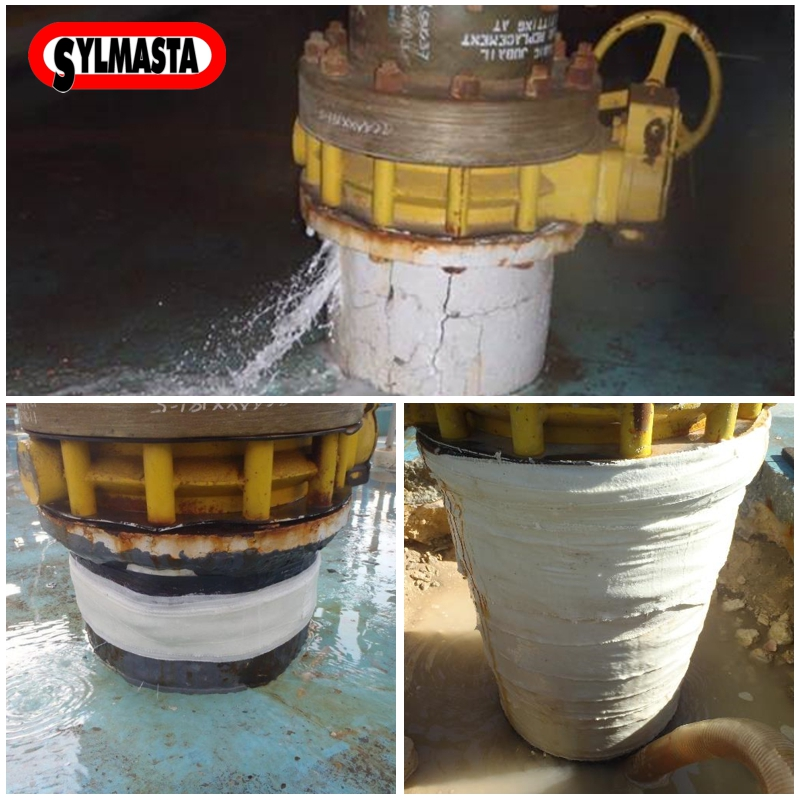 Live leak pipe repair made to a PCCP stub with no isolation valve in Saudi Arabia